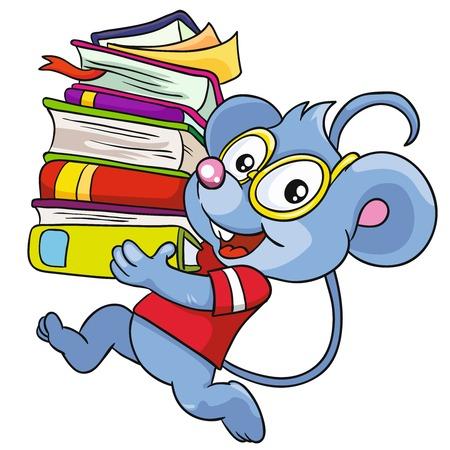 マウスの白い背景ベクトル イラストの本  イラスト・ベクター素材