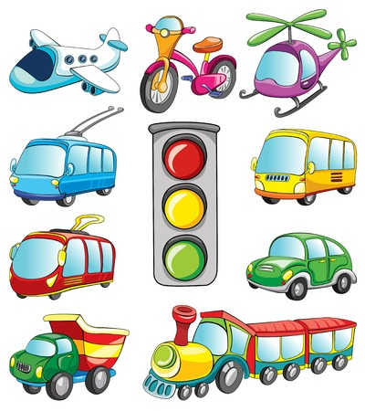 transport set, vector illustration on white background