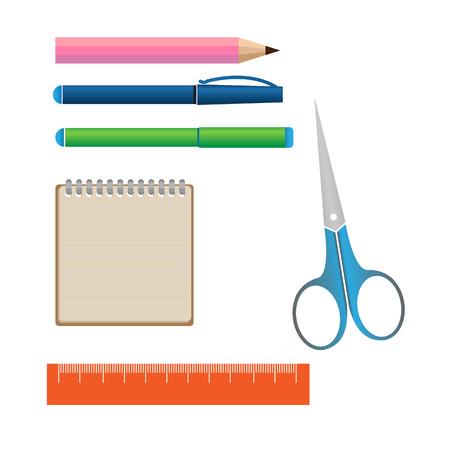 stationery set: Stationery set icons Illustration