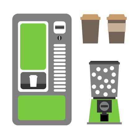 tragamonedas: m�quinas expendedoras de caf� y mec�nica Vectores