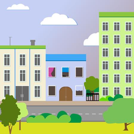 sleek: Sleek design a city street . Vector illustration