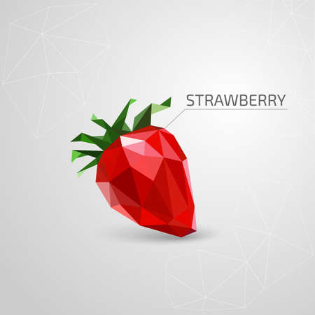 two dimensional: Polygon strawberry. Vector illustration