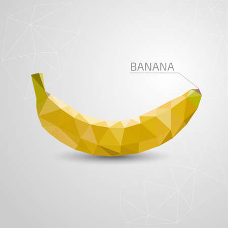 two dimensional: Polygon banana. Vector illustration Stock Photo