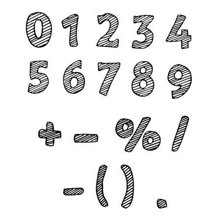 simbolos matematicos: Ilustraci�n de los n�meros sorteados. N�meros Fotograf�a en blanco y negro