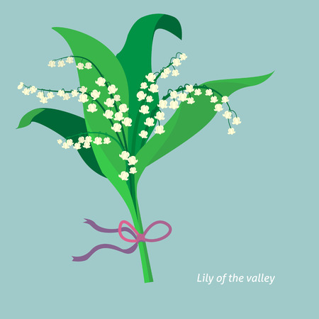lily of the valley: Flat design. Lily of the valley. Vector illustration Illustration
