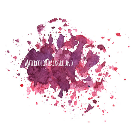 Watercolor background with splashes. Vector illustration