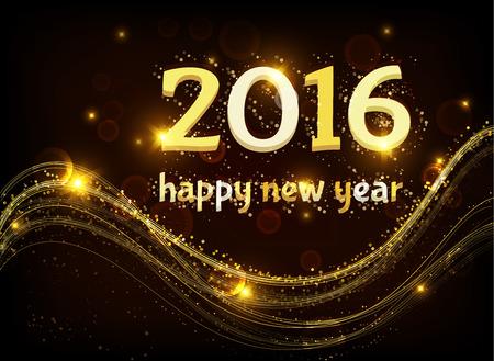 Happy new 2016 anni Archivio Fotografico - 43999130
