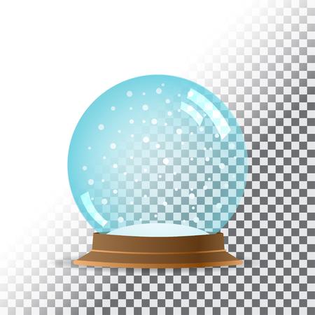 Snow globe. Transparent background.