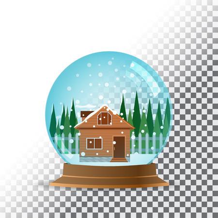 snowglobe: Snow globe. Transparent background.  Illustration