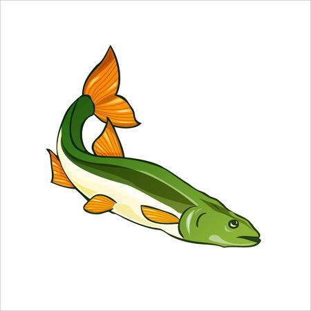 Vector illustration of fishes, salmon. Vector illustration Archivio Fotografico - 133537079