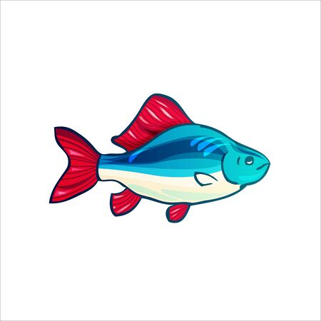 Vector illustration of fishes. Perch Archivio Fotografico - 132617369