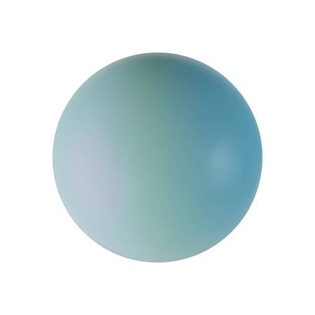 Blue sphere of ball realistic isolated on white background. Decoration element for design. Vector illustration Archivio Fotografico - 133239421
