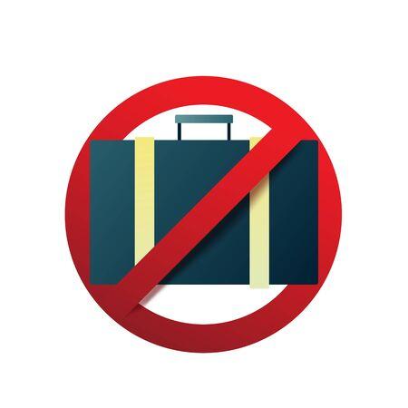 Stop coronavirus not travel. Novel Coronavirus 2019-nCoV , Virus Covid 19-NCP. Coronavirus disease prevention sign. Departure Ban. Vector illustration. Illustration