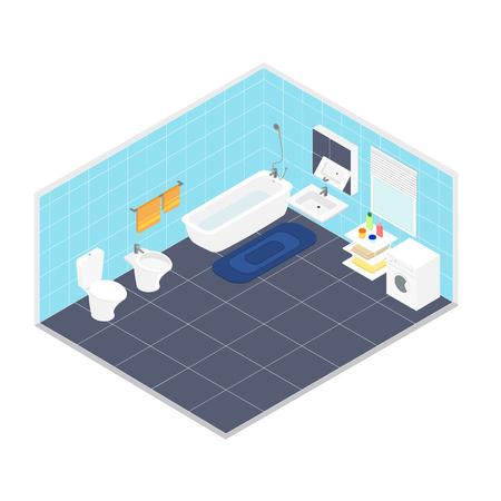 bathroom interior: bathroom interior Illustration