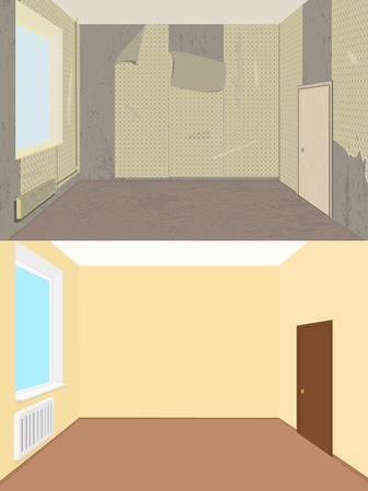 before: Room before and after renovation