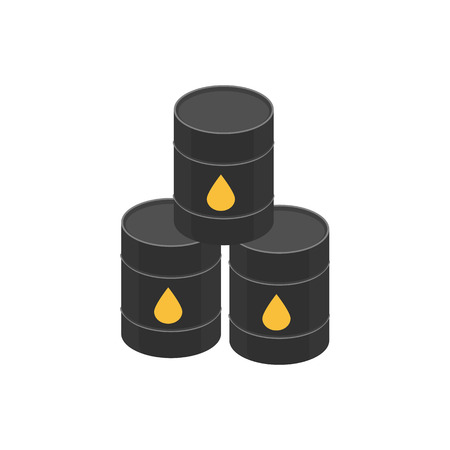 signed: Icon barrels of oil, signed the oil - drop yellow.