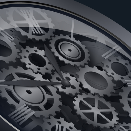 symbolics: Clockwork with gears Illustration