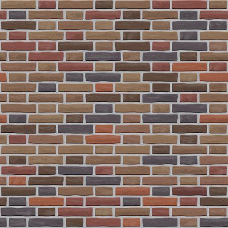 A pattern of old worn brown bricks Vector Illustration