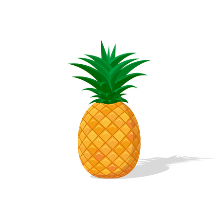 Colorful pineapple icon in a flat style.