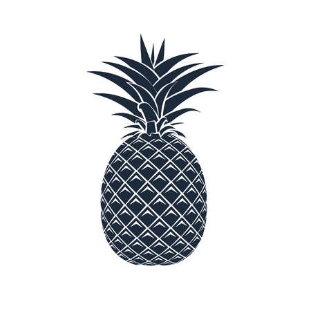 Vector pineapple icon on white background.