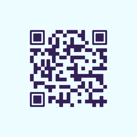 Qr code for scanning by phone. Icon. Vector illustration. Ilustrace