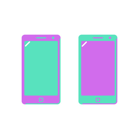 Icon smartphone, phone. Bright colors. Flat style Vector illustration