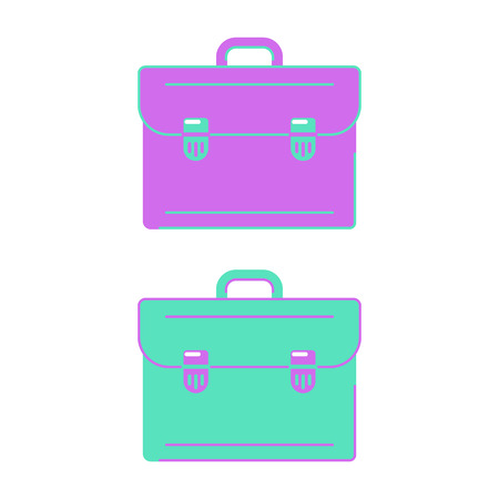 School bag for study and education. Flat style icon. Vector illustration.