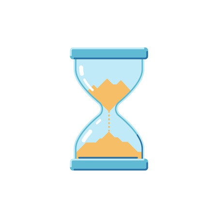 Hourglass on a white background. Flat style icon. Vector illustration.