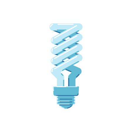 Energy saving lamp on a white background. Bulb. Flat style icon. Vector illustration. Ilustrace