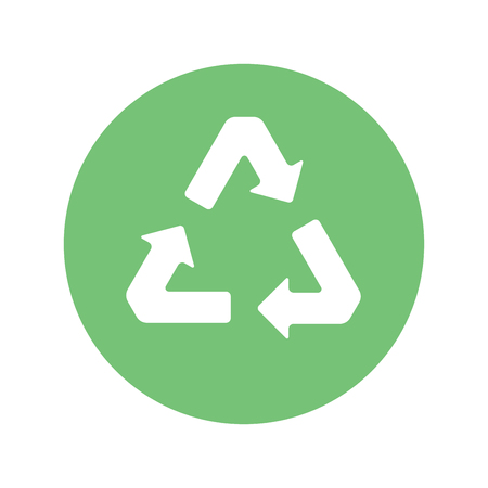 Recycling sign on a white background. Ecology, environment.