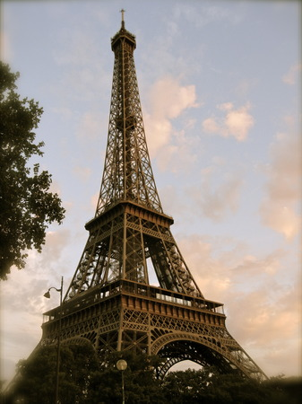 Vintage View of Eiffel Tower