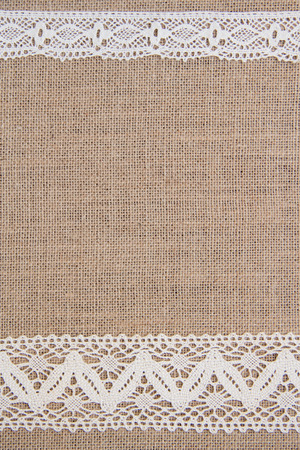 sackcloth: Burlap with lace