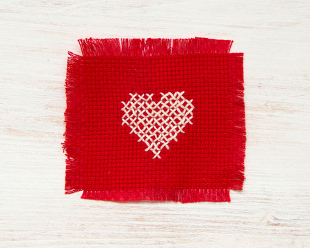 Cross stitched heart photo