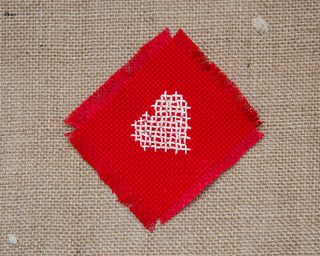 Cross stitched heart photo