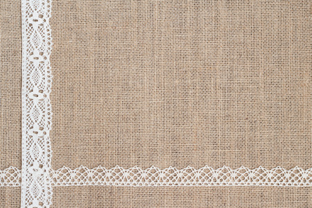 Burlap With Lace Stock Photo
