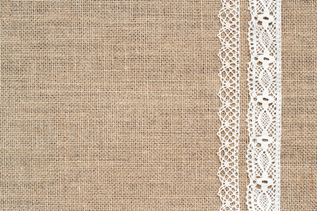 burlap texture: Burlap with lace