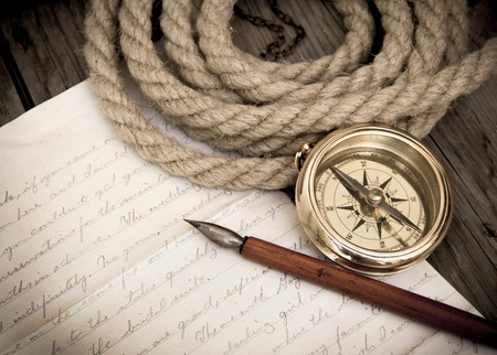 nautical compass: Letter from the explorer
