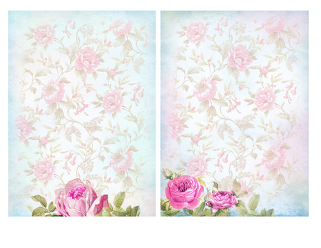 chic: Shabby chic backgrounds with roses. Floral pastel vintage background.