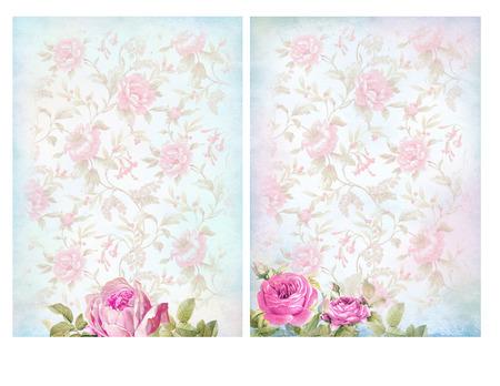 shabby chic background: Shabby chic backgrounds with roses. Floral pastel vintage background.