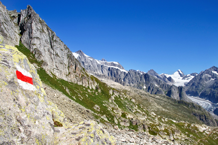 aletsch: The train from Eggishorn and the View of the Aletsch glacier and   Mountains