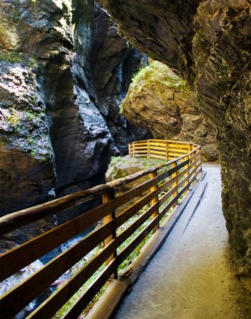 Liechensteinklamm (Liechtenstein Gorge) in Austria,  St. Johann im Pongau