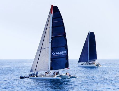 Yates de vela durante la regata Brindisi Corfu 2019