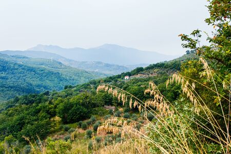 Panoram view of Cilento National Park near Roscigno, Cilento, Campania, Italy