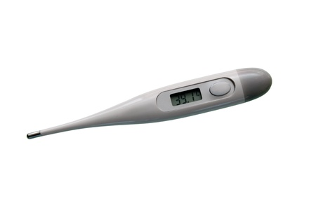Electronic thermometer with high temperature on display   photo