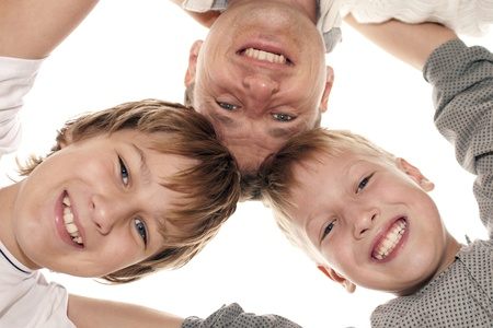 Happy family having fun photo