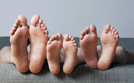 bare feet boys: Close-up of human soles