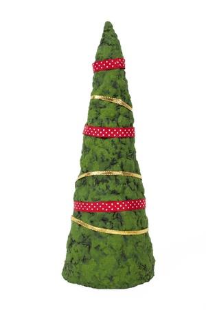 papiermache: Handmade xmas tree from papier-mache