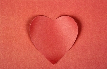 Heart from paper  Valentine Stock Photo - 17461764