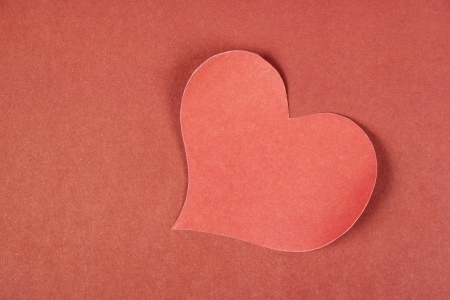 Heart from paper  Valentine Stock Photo - 17558984
