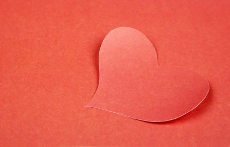 Heart from paper  Valentine Stock Photo - 17558976